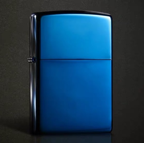 Classic Plain Blue Ice Zippo Lighter