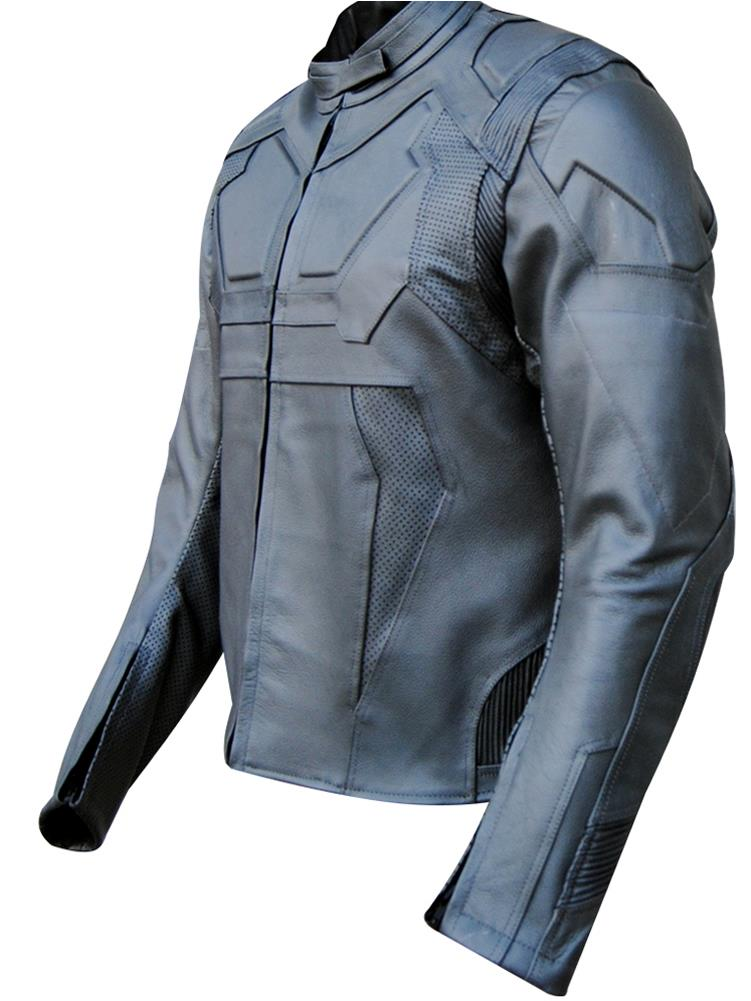 Classyak Tom Cruise Oblivion Leather Motorbike Jacket Gray