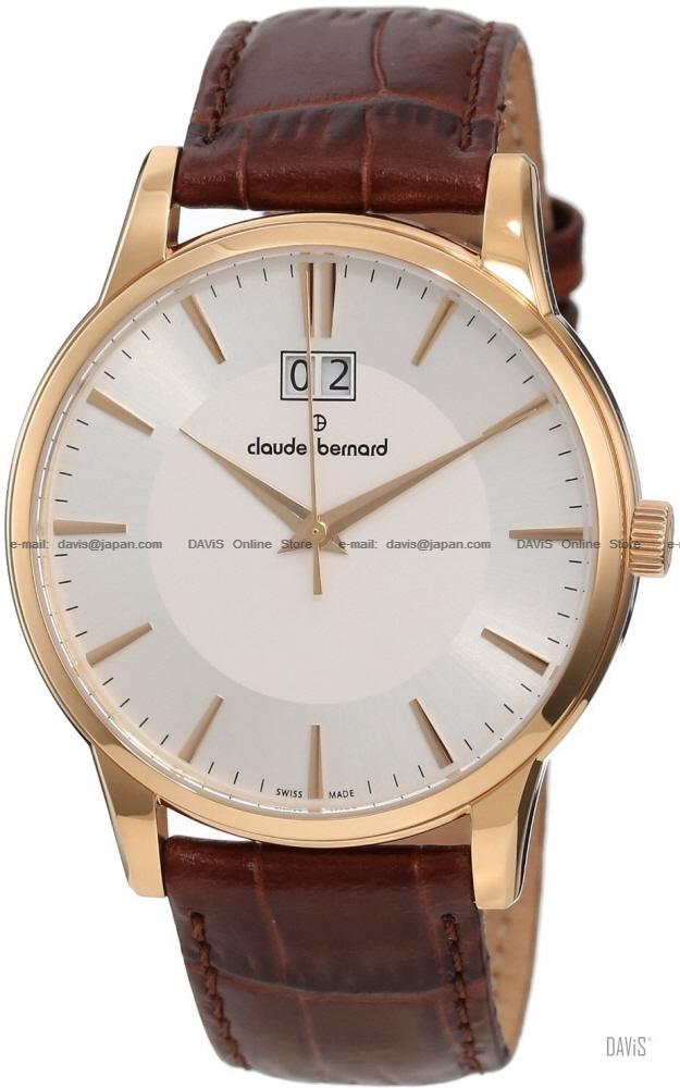 Claude Bernard . 63003 37R AIR . Classic (M) Big Date Leather White