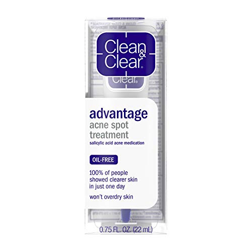 Clean  & Clear Advantage Acne Spot Treatment, Oil Free Acne Treatment with Sal