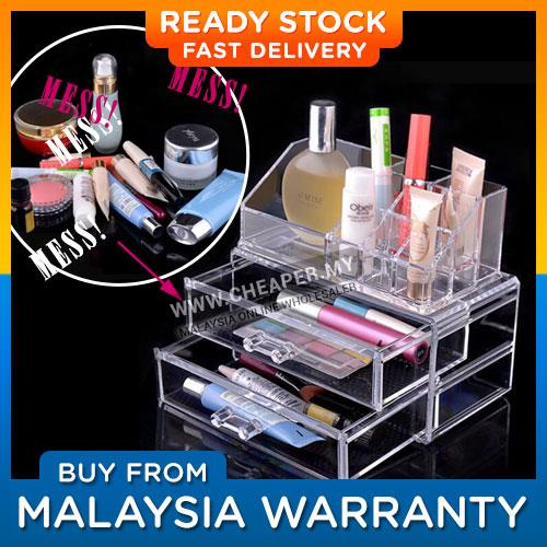 Clear Acrylic Cosmetic Makeup Accessories Storage Box Organize Jewelry
