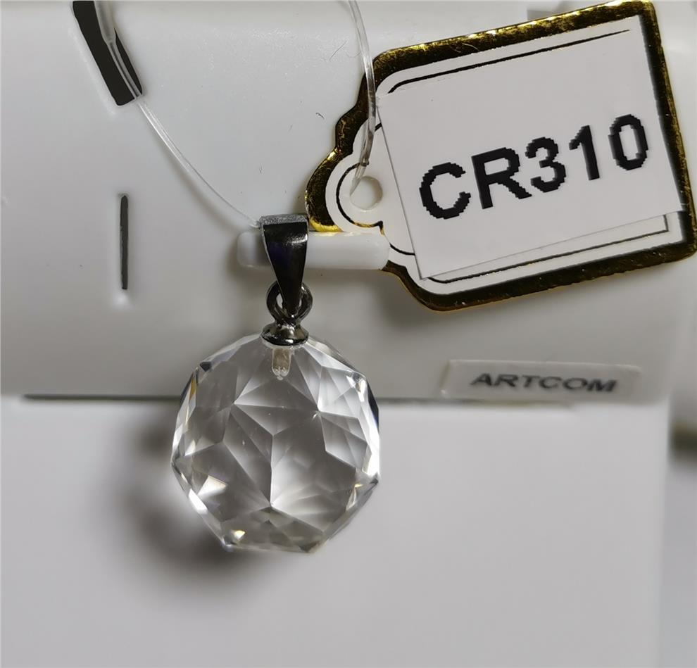Clear Quartz Faceted Ball  Pendant (15mm)