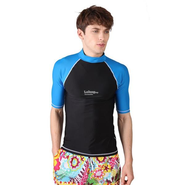 Clear stock! Men Swim Top Diving Snorkeling suit short sleeve (SizeXL)