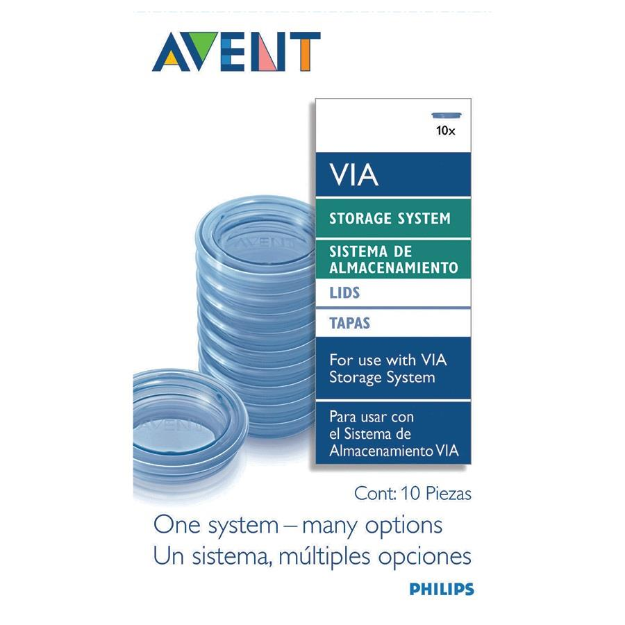 CLEARANCE Avent VIA Storage Lids 10pcs SCF614/10