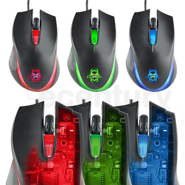 [CLEARANCE] CLiPtec 1600dpi USB illuminated Gaming Mouse RGS560