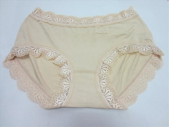 Clearance Healthy Nano Bamboo Fiber Lace Panty NUDE