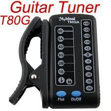 Clip-On Digital Electronic T80GA LED Automatic Guitar Tuner