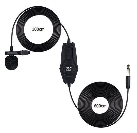 Clip Mic Lavalier Microphone for 3.5mm Jack for DSLR Camera SGM38 II