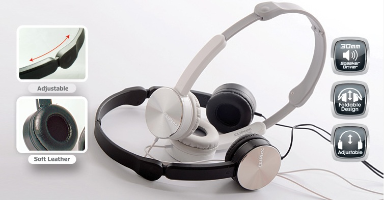 CLIPTEC CHROME MODENS HEADPHONE (BMH709) BLK/WHT