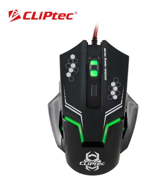 CLiPtec THERIUS 2400dpi Illuminated Gaming Mouse (RGS563)