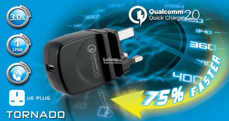 CLiPtec TORNADO Single Port 3 0A Quick Charge USB Home Charger GZU518