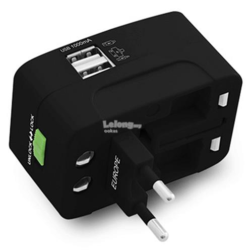 CLiPtec Universal Travelling Plug Adapter with USB Charger Port GZJ131