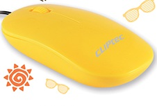 CLIPTEC WIRED OPTICAL USB MOUSE  (RZS969-07) YELLOW