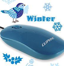 CLIPTEC WIRED OPTICAL USB MOUSE (RZS969-09) BLUE
