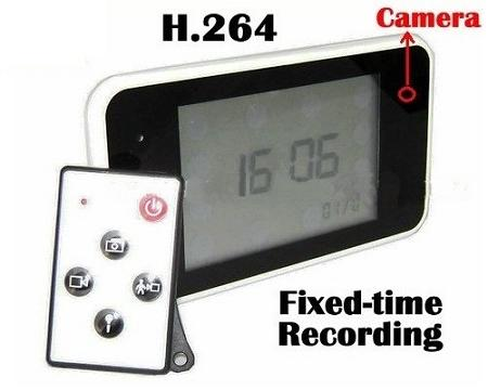 Clock Camera DVR with Time Preset Recording (WCH-22A).