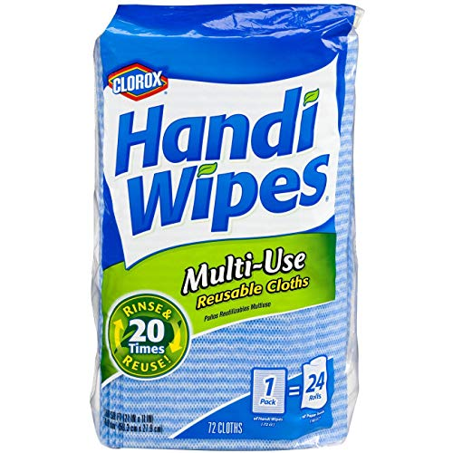 Clorox Handi Wipes, Dry Multi-Use Reusable Cloths, 72 Count/from USA