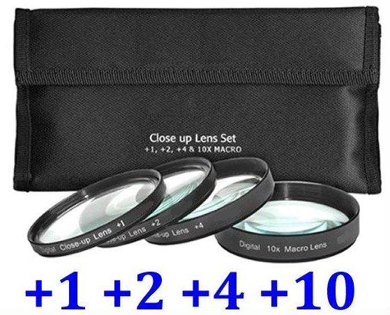 New Close up +1 +2 +4 +10 Closeup Macro Filter Kit Set