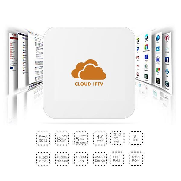 Cloud IPTV T-500 tv box hdtv FREE LIVE TV & VOD MYIPTV