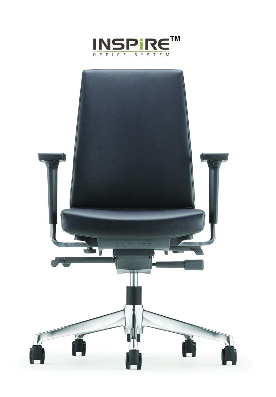 Clover Series P.U Leather Low Back Office Chair