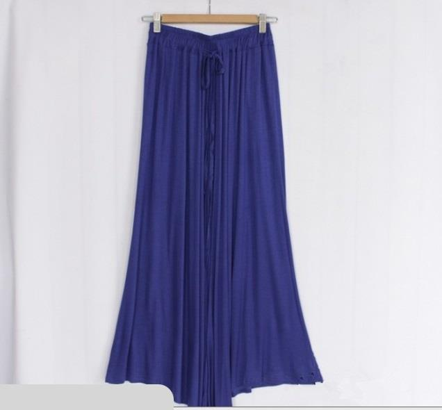 [CM37237B] Korea Fashion Flare Pant Blue