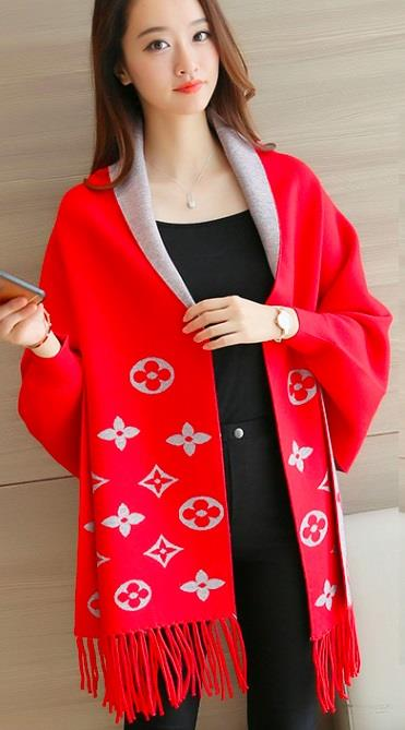 [CM37290R] Pretty Cardigan Red