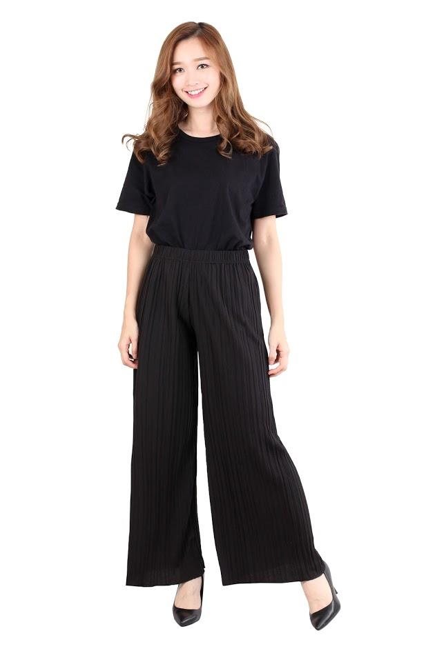 [CM4276 NEW] Ladies Palazzo Pant Black