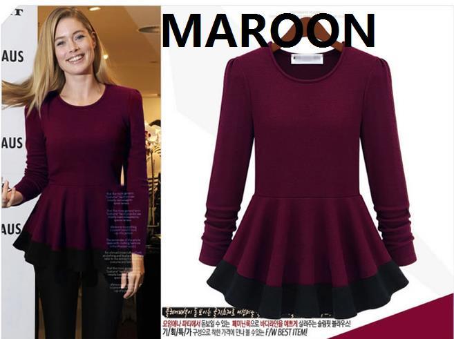 Office Wear Top Maroon Cm5243m Europe Woman Elegant Work End 3 23 2017 10 57 Am