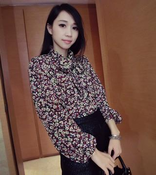 [CM55254] Floral Top As Picture