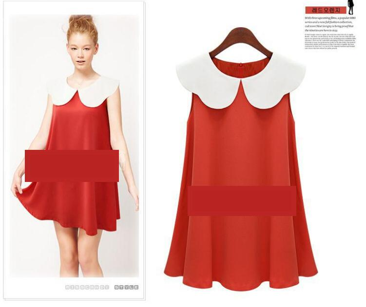 [CM5677R] Europe Fashion Woman Elegant Working Dress Red