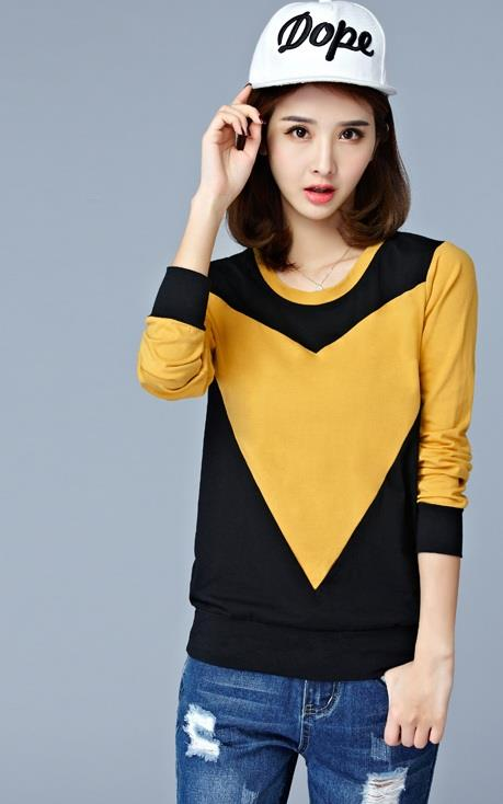 [CM74202Y] Fashion Women Stylish Top Yellow