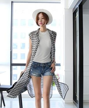[CM75283-NEW] Fashion Long Vest Black