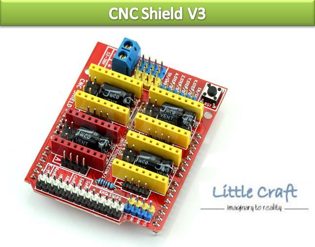 CNC Shield V3 for Arduino UNO, A4988 Stepper Driver