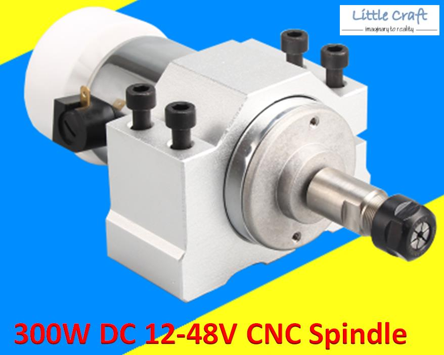 CNC Spindle 300W DC 12-48V With Mounting Bracket
