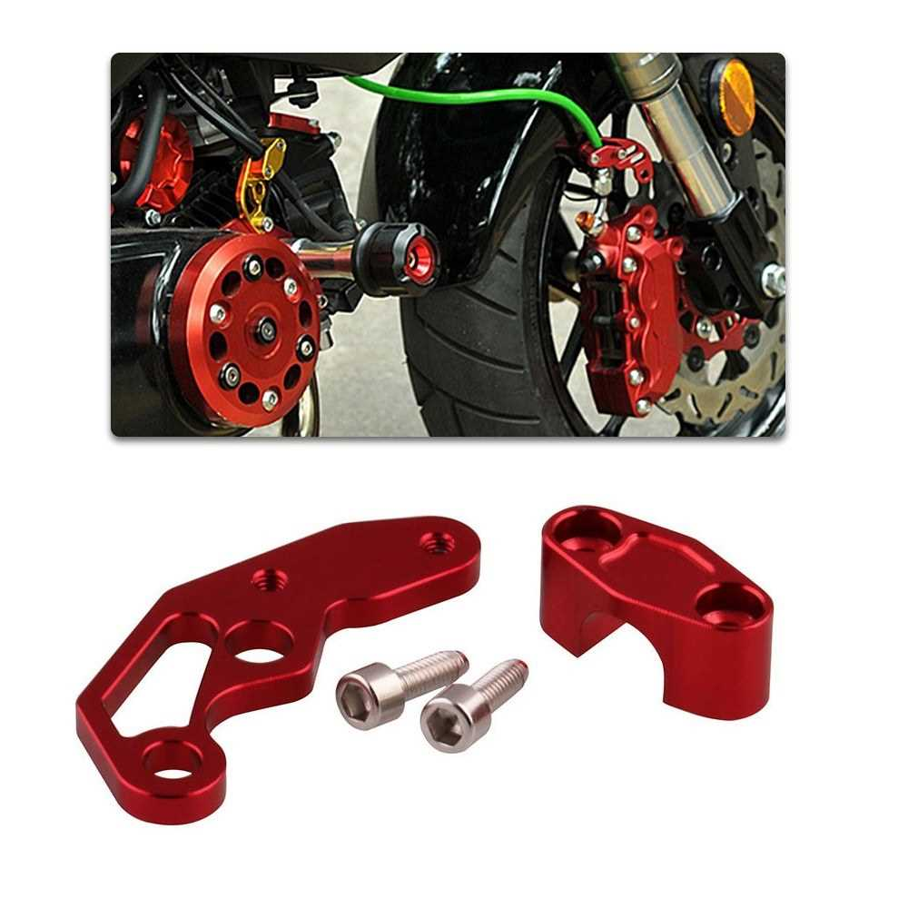 CNC Universal Motorcycle Brake Line Clamps Aluminium Alloy Wire Clamp Red (Red