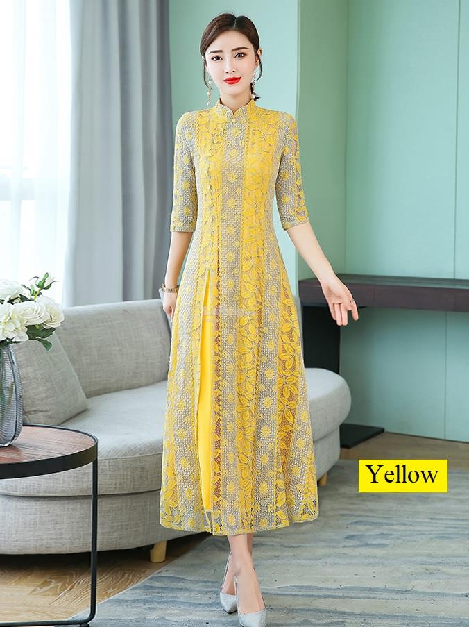 CNY 2020JN – Romantic Lace Cheongsam for women