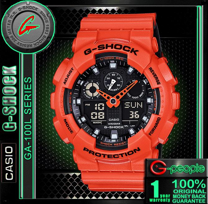 CNY SALE !!! CASIO G-SHOCK GA-100L-4A WATCH ☑ORIGINAL☑