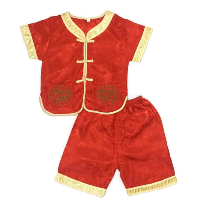 CNY Traditional Chinese New Year Kid Boy Short Pants Set - Red. ‹ › a071b5cfc
