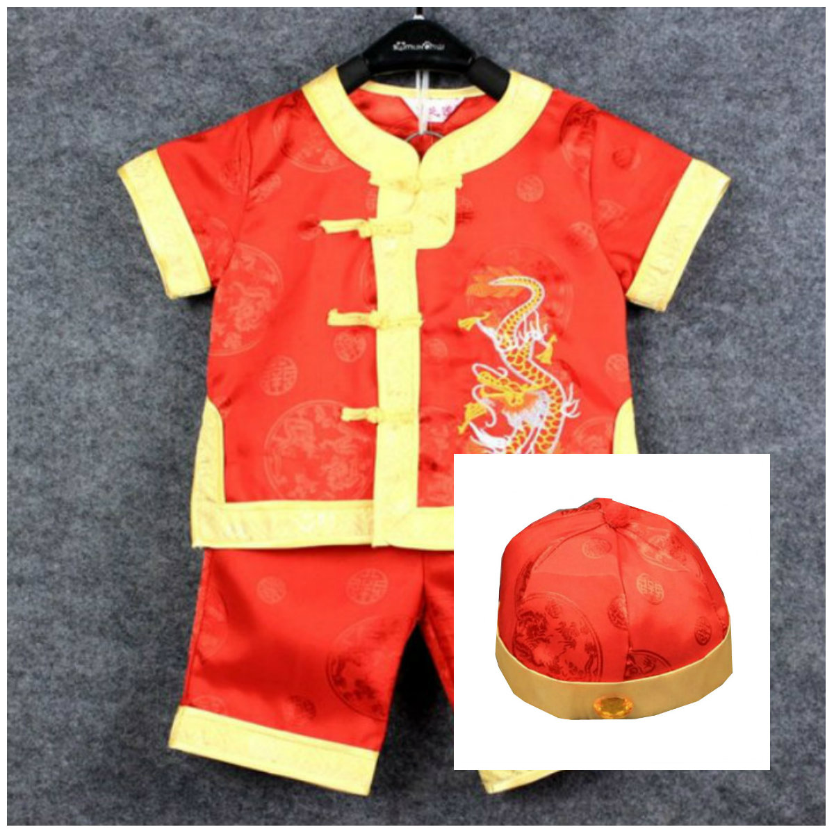 China Red Underwear Hat Boy