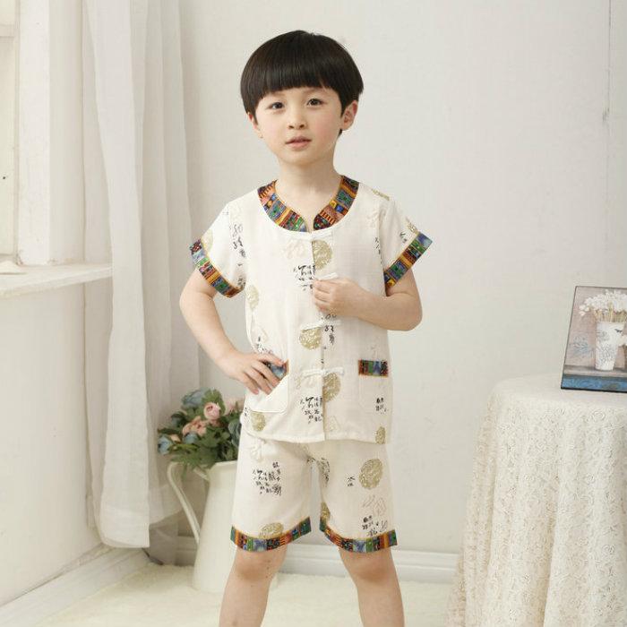 CNY Traditional Chinese New Year Kids Boy Short Pants Set - Cream. ‹ › 91378a44b