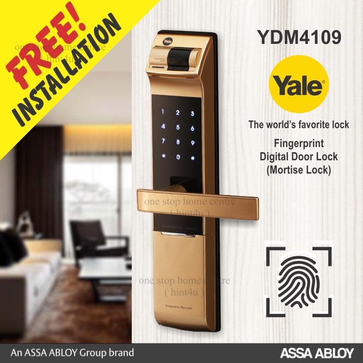 (CNY) Yale YDM 4109 (GOLD) Fingerprint pin key Digital Door Lock. ‹ ›