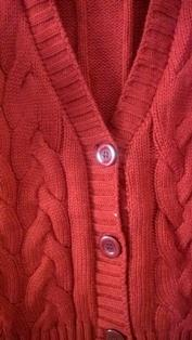 Coat Cardigan Style Red Korean Sweater With Buttons