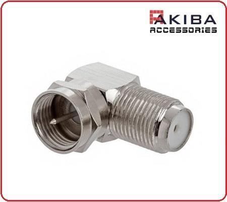 Coaxial Type F Female to Male F-Type L Angle Connector (2pcs)