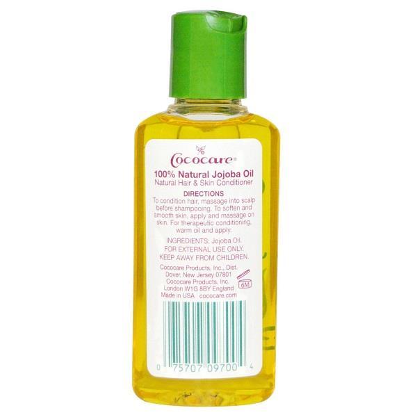 Cococare, 100% Pure Jojoba Oil, Cold-Pressed (60 ml)