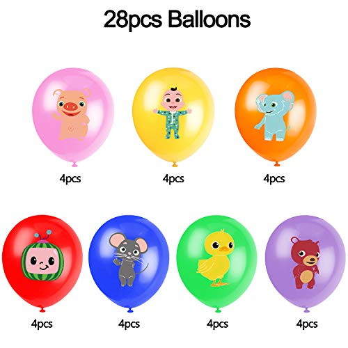 Cocomelon Birthday Party Supplies, Balloons for Cocomelon Theme Birthday Party