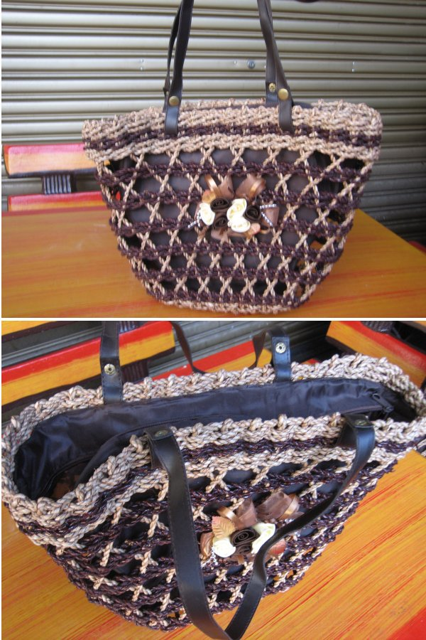 <B>(CODE JS06) IMPORTED HIGH QUALITY HANDMADE JUTE STRING HANDBAG</B>