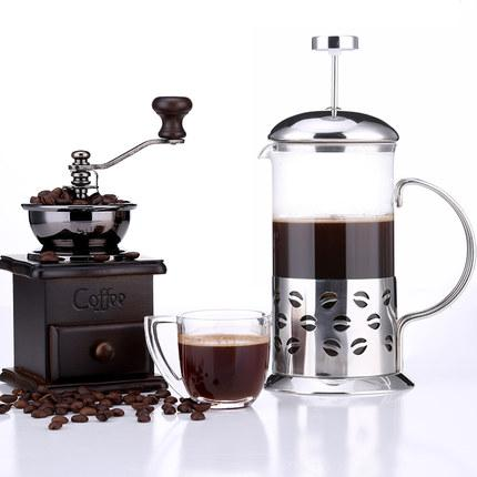 Coffee Tea French Press Maker Clic Manual Grinder