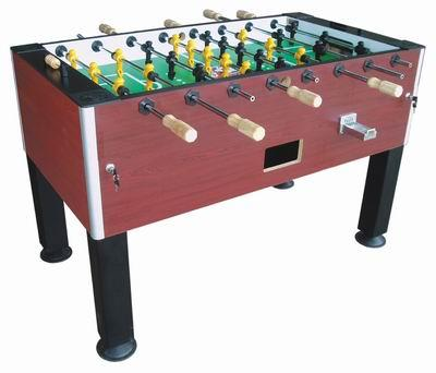 coin or free operated foosball table with cover