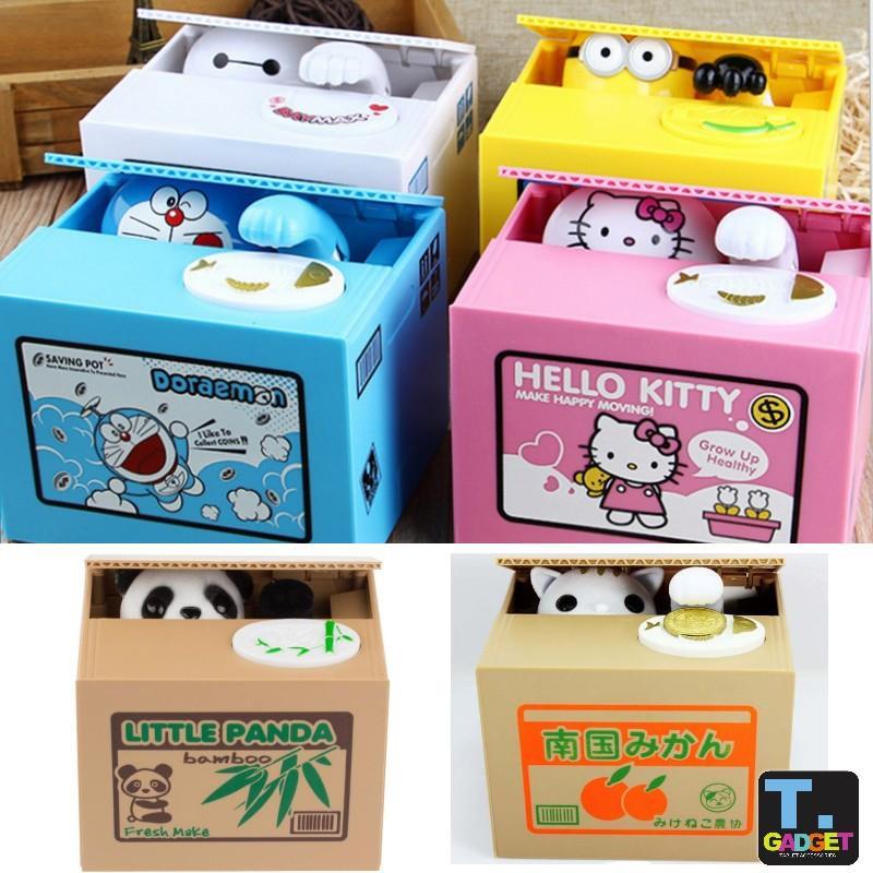Coins Bank Saving Box Lovely Steal Money Cat Doraemon Kitty Kids Gift
