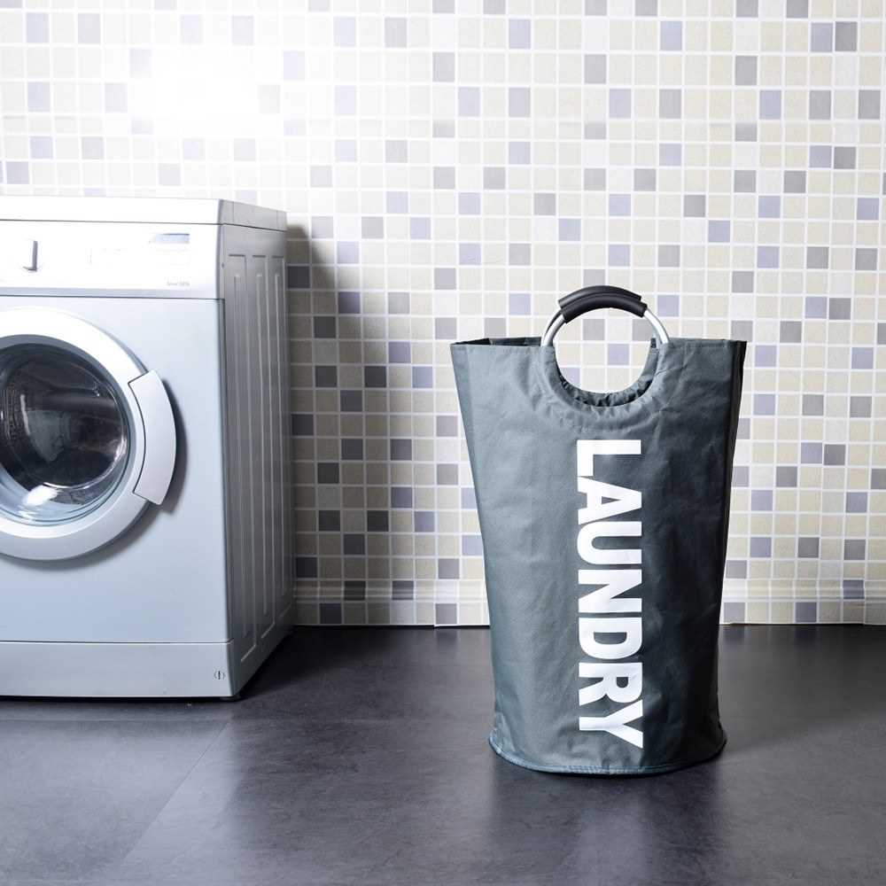 Collapsable Laundry Bag Foldable Laundry Hamper Oxford Fabric Laundry