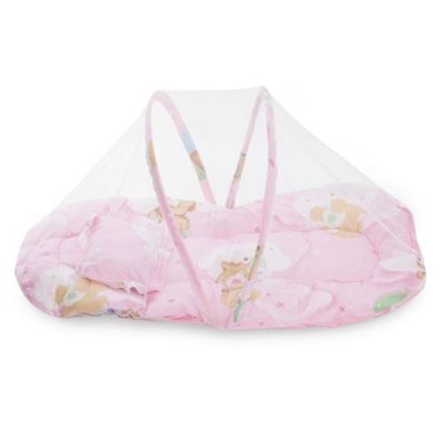 Collapsible Mosquito Insect Soft Cushion For Babies Pink